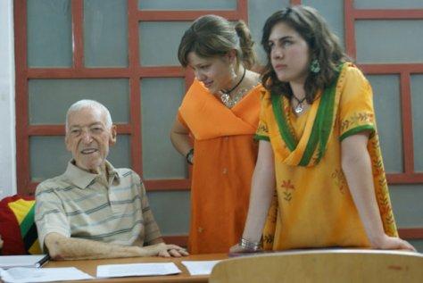 Laura, Núria i el Sr. Vicenç Ferrer a lIndia