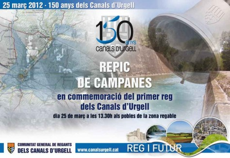 Cartell repic 150 anys Canals d'Urgell