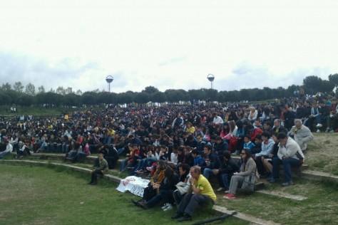 Concentració al Parc Catalunya per l'educació
