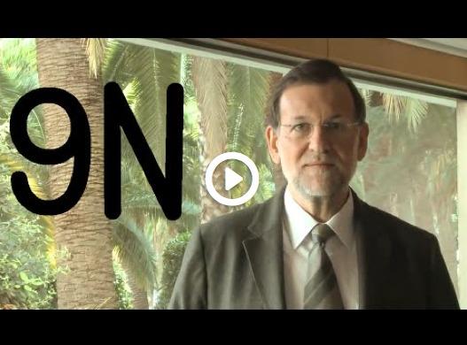 Rajoy 'crida a votar' el 9-N
