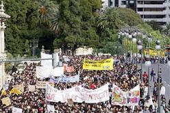 Manifestació d'ahir a València