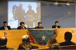 Acte de commemoració al Museu d'Història<br>de Catalunya el 2 de desembre passat.<br> Fotografia: Lluís Brunet
