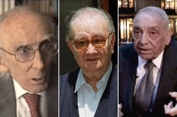 Josep Benet, Joan Brossa i Ermengol Passola.