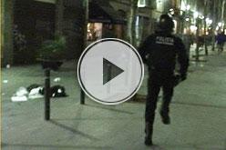 VILAWEB TV: Enfrontaments d'abans-d'ahir al vespre.