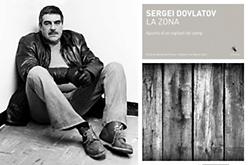 Serguei Dovlàtov i la portada de 'La zona'.