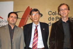 Miquel À. Gràcia, Enric Canela i Roger Granados, impulsors de la iniciativa.