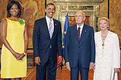 Napolitano rep Obama a Roma.