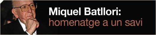 Miquel Batllori: homenatge a un savi