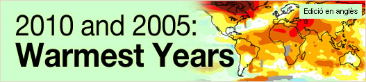 2010 and 2005: Warmest Years