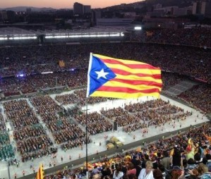 90.000 voices for independence at Barcelona's Camp Nou concert