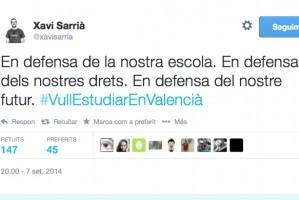 La xarxa diu a Fabra: #VullEstudiar EnValencià