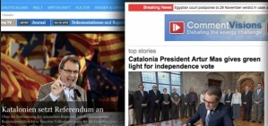 The call to the Catalan consultation, in the international press