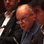 Jordi Pujol appears before the Catalan parliament following his confession of tax evasion
