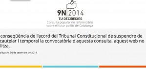 El govern susp�n la campanya per� no desactiva la web del 9-N
