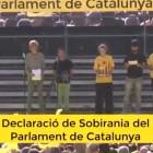 Els dos punts de la declaraci� de sobirania que diumenge van desapar�ixer