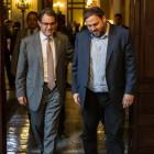 Junqueras arriba al Palau de la Generalitat per reunir-se amb Mas