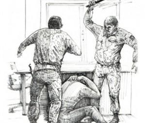 El Banksy ucra�n�s dibuixa el seu segrest i les tortures rebudes a Donetsk