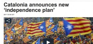 El 'pla per la independ�ncia' de Mas, tema destacat a la premsa internacional