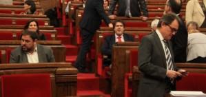 Mas i Junqueras escenifiquen la disc�rdia al parlament